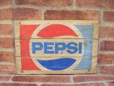 Letrero de Pepsi retro en madera http://tumuebleconsolajvg.webs.tl