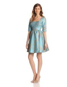 damask 2/4 sleeve dress