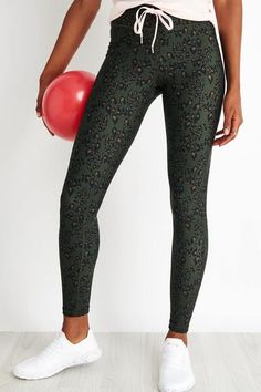 The Upside | Army Leopard Yoga Pant | The Sports Edit