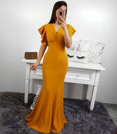Peach Maxi Dresses, Casual Dresses, Girls Dresses, Formal Dresses, Knit Dress, Dress Skirt, Modest Fashion, Fashion Outfits, Sleeves Designs For Dresses