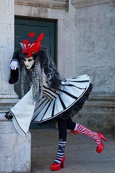 Carnivale mask & costume ~ 21760 - ID: 12821215 © Jim  Zuckerman