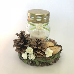 Projects To Try, Diy, Halloween, Floral, Ideas, Jars, Christmas Decorations, Crafting, Bricolage