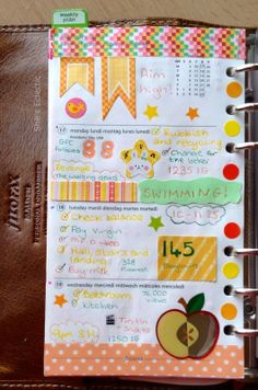 She's Eclectic: My week in my Filofax #8 - close up
