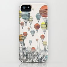 Voyages over Edinburgh iPhone Case by David Fleck - $35.00
