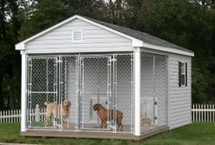 for those days when The Doogs insist on being outside 24/7.....10x16 Dog kennel…