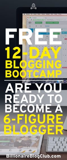 Want to start making money from blogging? This free bootcamp will help show you what it takes to make a living with a blog.