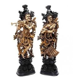 Handcrafted Lord Radha Krishna Statue In Brass