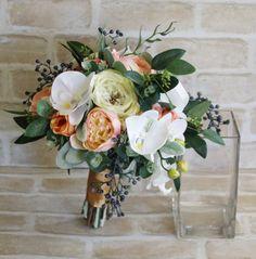 Bridal Bouquets, Bridal Bouquet, Wedding Bouquets, Wedding Flowers, Artificial Wedding Bouquet, Bridal Flowers, Silk Flower Bouquet, Flowers by LaPlumeDeFleur on Etsy https://www.etsy.com/au/listing/482272530/bridal-bouquets-bridal-bouquet-wedding