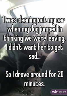 Whisper App. Confessions from dog lovers.