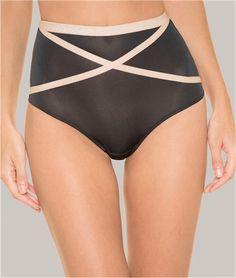 String taille haute #Wonderbra #glam #paillettes #glam'paillettes #push-up #bra #thong #brief #lace #silk #satin #tulle #underwear #dessous #blog #bloglingerie #lingerie #lebloglingerie
