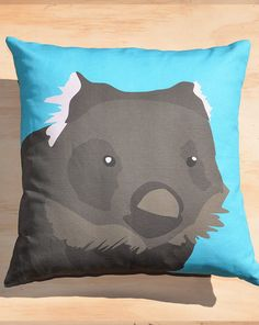 Items similar to Bare-nosed Wombat x cushion cover on Etsy Wombat, Cotton Linen, Have Fun, Interior Decorating, Delicate, Cushions, Teddy Bear, Throw Pillows, Cool Stuff