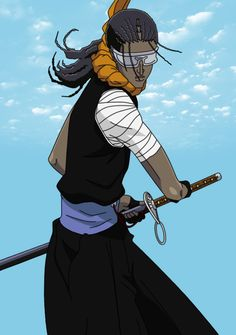 This is the colored version of [link] Lineart by: Colo by: Tōsen Kaname (Bleach) Copyright © Tite Kubo Tosen Kaname Bleach Fanart, Bleach Manga, Bleach Characters, Anime Characters, Shinigami, Bleach Captains, Black Cosplayers, Kuchiki Rukia, Black Artwork
