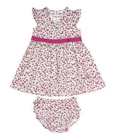 This JoJo Maman Bébé Cerise Poppy Wrap Dress & Diaper Cover - Infant by JoJo Maman Bébé is perfect! #zulilyfinds