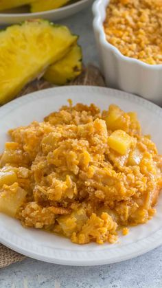 The Best Pineapple Casserole [Video] - Sweet and Savory Meals Pineapple Casserole is a classic Southern casserole made with sugar, pineapple, cheese and butter Ritz crackers. A sweet and savory side dish, that is always a huge hit. Scalloped Pineapple Recipe, Baked Pineapple, Pineapple Recipes, Easy Broccoli Casserole, Pineapple Casserole, Casserole Recipes, Side Dishes Easy, Side Dish Recipes, Easter Dinner Traditional