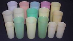 I remember these....but didn't like drinking from them...they smelled like plastic or detergent!  So true!