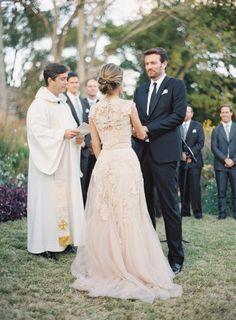 Cheekwood Botanical Garden Nashville Wedding- Lace back. I love it!
