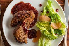 Seared Duck Breasts with Raspberry-Honey Glaze Recipe - CHOW