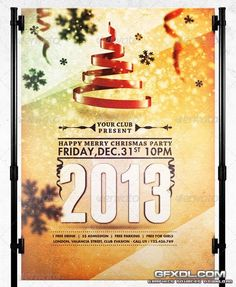 GraphicRiver Happy Merry Christmas Party Flyer Template