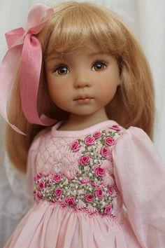 "Smocked Ensemble for 13"" Effner Little Darling Dolls by Petite Princess Designs"