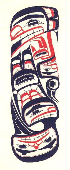 Raven with a Broken Beak and the Blind Halibut Fisherman. Robert Davidson, Haida printmaker. 1971