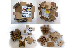 EGG PACKAGING CORRUGATED CARD
