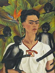 Frida Kahlo Self-portrait with monkeys, The Jacques and Natasha Gelman Collection of Mexican Art © 2016 Banco de Mexico Diego Rivera Frida Kahlo Museums Trust, Mexico DF Frida E Diego, Diego Rivera Frida Kahlo, Frida Kahlo Exhibit, Frida Kahlo Artwork, Frida Kahlo Portraits, Old Posters, Tomie Ohtake, Kahlo Paintings, Portrait Paintings