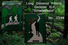 "Long Distance Hikers Geocoin XLE ""Schwarzwald"" No. 23/44"