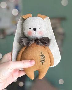 Tilda Toy, Fabric Toys, Paper Toys, Sewing Dolls, Stuffed Animal Patterns, Soft Dolls, Diy Doll, Cute Dolls, Sewing For Kids