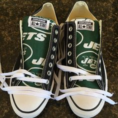 New York Jets Converse Sneakers - http://cutesportsfan.com/new-york-jets-designed-sneakers/
