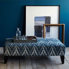 Ikat Chevron Fabric by the Yard from west elm