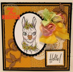Pam Bray Designs: A Girl with Flair: Hello Card with Xyron Abstract Paper, Blank Page, Paper Doilies, Pattern Paper, Say Hello, Happy Day, Pretty Flowers, Paper Flowers, Card Stock