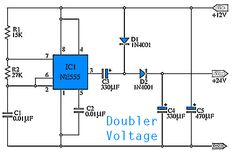 Simple Doubler Voltage 12 to 24 VDC