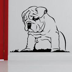Wall Stickers Home decor DIY poster mural Vinyl Decal Art Mural Animal Nursery Wallpaper Bulldog Puppy Dog Art Clipart, Puppy Clipart, Bulldog Drawing, Bulldog Tattoo, Bulldog Puppies, Cute Puppies, Bulldog Mascot, Wall Stickers Dogs, Mini English Bulldogs