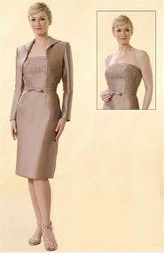 Coat/ Jacket Knee-length Strapless Sheath Mother's #Dress Style Code: 00155 $79