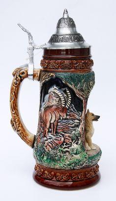 German Beer Mug, German Beer Steins, Beer Mugs, Glasses, Breakfast Nook, Mugs, Craft, Eyewear, Eyeglasses