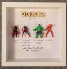 Avengers Superhero figures frame gift. Ideal by MakeItExtraSpecial