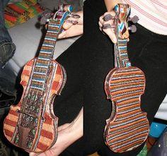 Handsculpted Polymer Clay Violin Sculpture