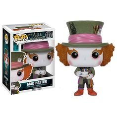 Alice in Wonderland Mad Hatter Pop! Vinyl Figure from Funko. Perfect for any Company_Funko Product Type_Pop! Vinyl Figures Theme_Alice in Wonderland fan! Funk Pop, Disney Pop, Pop Vinyl Figures, Tim Burton, Comic Shop, Funko Pop Dolls, Pop Figurine, Chesire Cat, Funko Figures