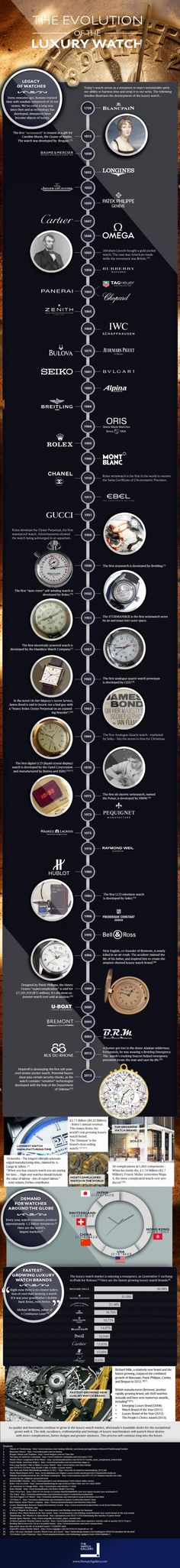 The Evolution of the Luxury Watch infographic