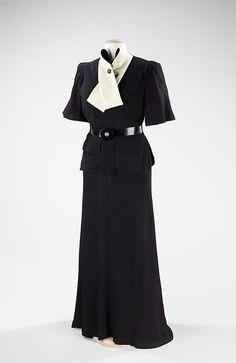Madeleine Vionnet black and white ensemble, 1936-1938, via The Metropolitan Museum of Art. #vintage #1930s #fashion