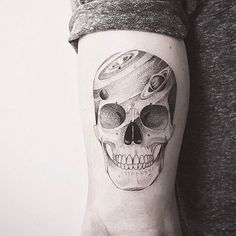 Awesome skull. BY IOSEP [ @iosep.ink ] BOOKINGS CLOSED.
