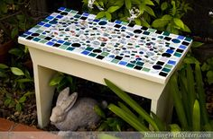 Make a pretty china mosaic bench for your garden! Follow the steps below or follow along on our Curious video lesson where you'll learn how to break china into mosaic pieces using tile nippers, lay...