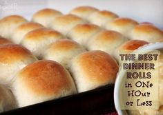 The best dinner rolls in one hour or less