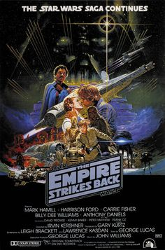 The Empire Strikes Back Movie Poster x 40 Inches - x Australian -(Mark Hamill)(Carrie Fisher)(Harrison Ford)(Billy Dee Williams)(Alec Guinness)(David Prowse) Star Wars 5, Film Star Wars, Star Wars Poster, Mark Hamill, Millennium Falcon, Chewbacca, Space Opera, Cuadros Star Wars, Images Star Wars