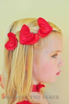 Hearts hair pins romantic girls hair accessory by Againsttheclock, $15.00