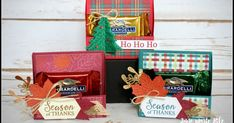 Gather Together Treat Holder Christmas Treats For Gifts, 3d Christmas, Stampin Up Christmas, Christmas Projects, Christmas Items, Have A Happy Day, Handmade Birthday Cards, Handmade Cards, Handmade Gifts