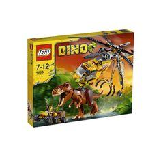 Lego Dino 5886 Elicottero cattura dinosauri. Elicottero Lego Dino Il cacciatore di tirannosauri. 480 mattoncini 2 personaggi e 1 T-Rex. Ricco di accessori!  Dimensioni Confezione: cm. 48x38x7.  Prezzo €59,49