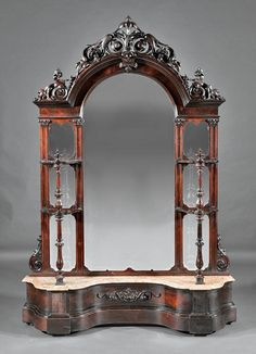 ~ American Rococo Carved Rosewood Etagere ~ new.liveauctioneers.com