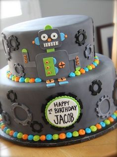 Robot cake — Children's Birthday Cakes