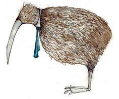 Kiwi Vogel mit Krawatte von lisahurwitz auf Etsy